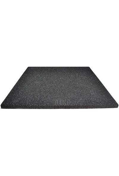 Beka Rubber Soğuk Press 100X100 cm 2 cm Siyah Fitness Kare Kauçuk Zemin