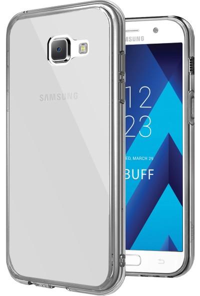 Buff Galaxy A7 2017 Air Hybrid Kılıf Smoke Black