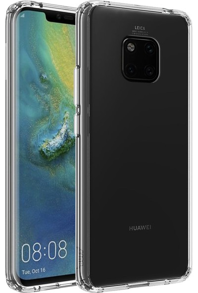 Buff Huawei Mate 20 Pro Air Hybrid Kılıf Crystal Clear