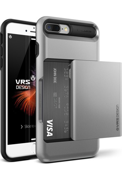 VRS Design iPhone 8 Plus / 7 Plus Damda Glide Kılıf Light Silver