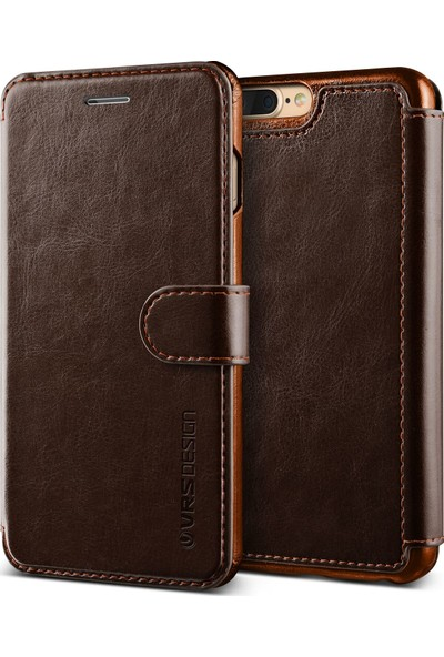 VRS Design iPhone 8 Plus / 7 Plus Dandy Layered Kılıf Dark Brown