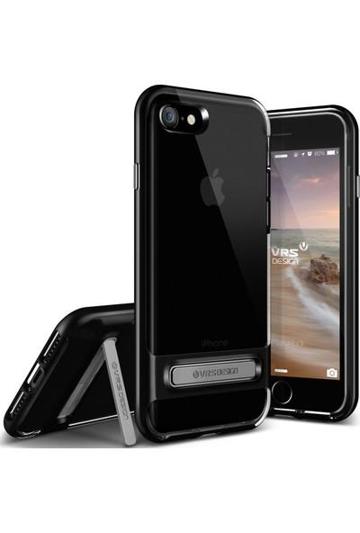 VRS iPhone 8 Plus / 7 Plus Crystal Bumper Kılıf Jet Black