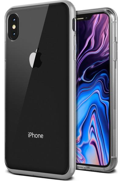 VRS iPhone Xs Max Crystal Bumper Kılıf Steel Silver