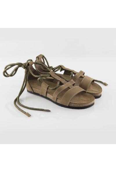 ART'iz Troya Deri Kum Slim Sandalet 40