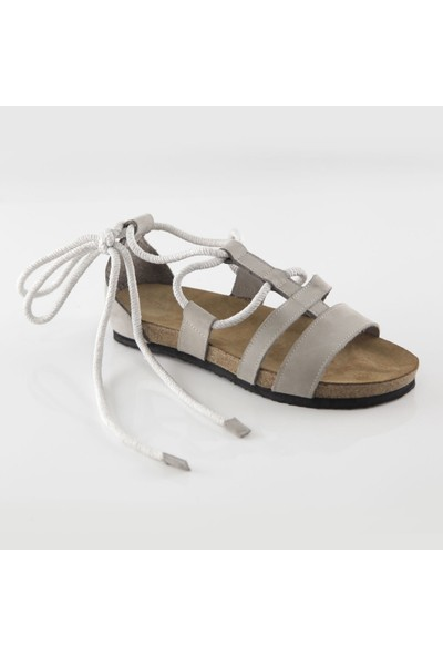 ART'iz Troya Deri Gri Slim Sandalet 36