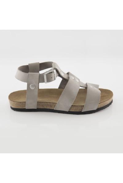 ART'iz Assos Deri Gri Slim Sandalet 36