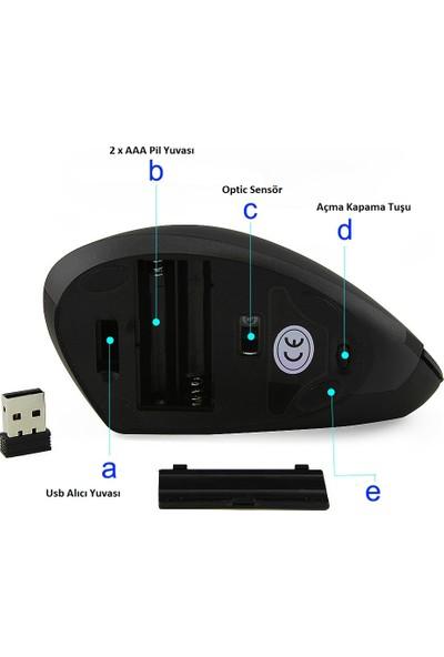 TriLine Kablosuz JSY-1 1600DPI Ergonomik Dikey Mouse
