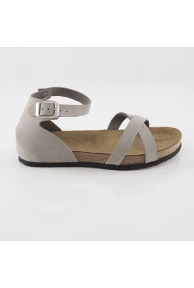 ART'iz Miletos Deri Gri Slim Sandalet 36