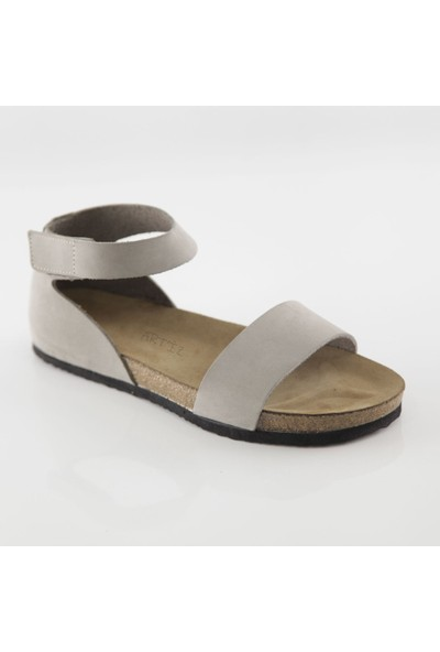 ART'iz Limyra Deri Gri Slim Sandalet 37