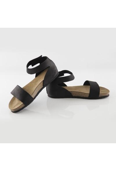 ART'iz Limyra Deri Siyah Slim Sandalet 36