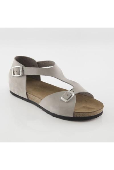 ART'iz Myra Deri Gri Slim Sandalet 39