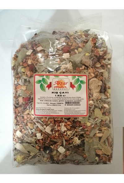 Aktar Baharat Doğal Vitaminli,organik Karışık Kış Çayı 1 kg