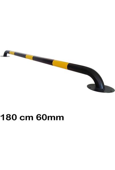 Otopark Araç Stoperi Siyah Boru Tipi 180 cm 2 mm Ø60 mm Çap