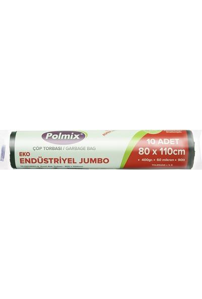 Polmix Extra Endüstriyel Jumbo Çöp Torbası 80 x 110 cm 6'lı