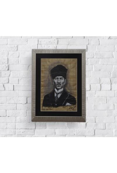 Sencer Papirüs'e Yağlı Boya Tablo Mustafa Kemal Atatürk