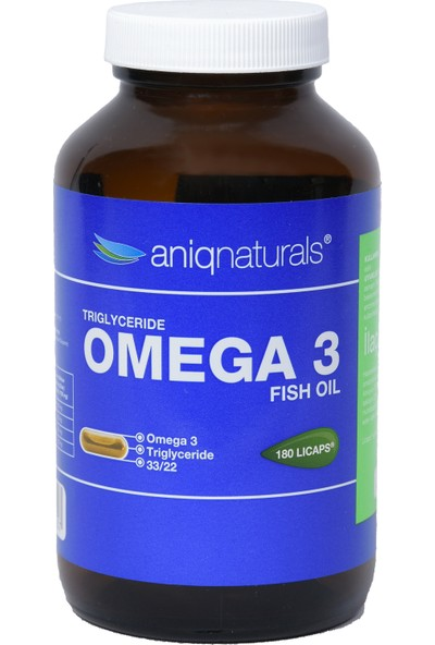 Anıqnatural Omega 3 - Fısh Oıl Balık Yağı 180 Licaps