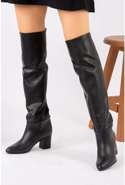 Fox Shoes Siyah Kadın Çizme G227483309
