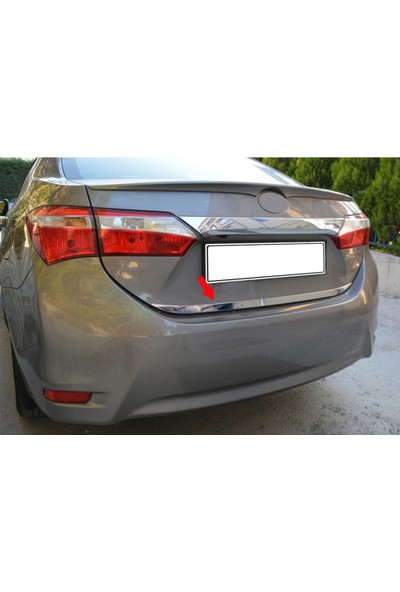 Oto Axs Toyota Corolla Krom Bagaj Alt Çıta 2013-2019 Arası