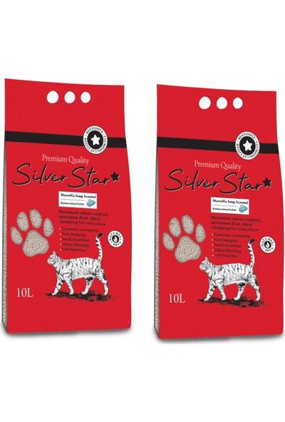 Silverstar Marsilya Sabunu Kokulu Topaklaşan Kedi Kumu 10 l 2 Adet