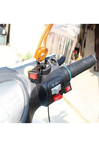 Knmaster Motosiklet Ayna Ayağına Takılabilir Aç Kapa Butonu