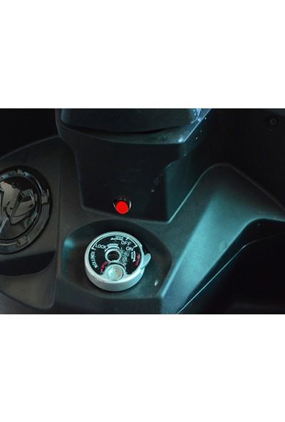 Knmaster Motosiklet Torpido Tipi Yuvarlak Bas Çek Buton / Tuş