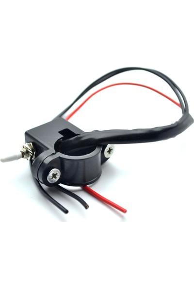 Knmaster Motosiklet Gidon Bağlantılı Beyaz Aç Kapa Butonu / Switch