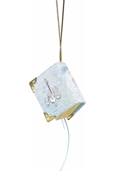 Kadife Kaplı Mini Kur'an-ı Kerim Mavi