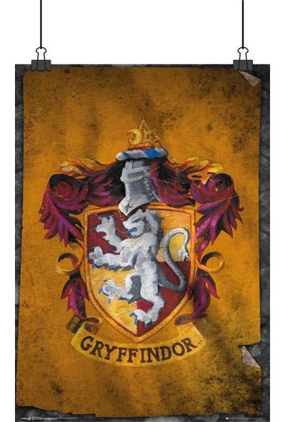 13 Poster Harry Potter Gryffindor Sınıf Logo Eskitme Yıpranmış Gibi 48 x 33 cm Posteri