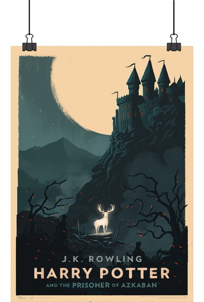 13 Poster Harry Potter Prisoner Azkaban Tutsağı Geyikli Retro 100 x 70 cm Posteri