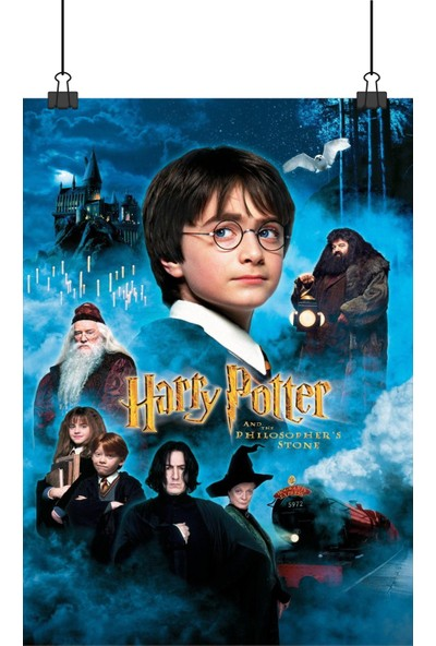 13 Poster Harry Potter Ilk Film Philosophers Stone Felsefe Taşı Film 48 x 33 cm Posteri