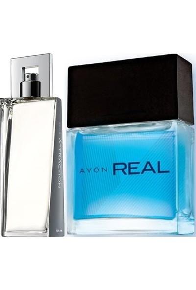 Avon Attraction 75 ml Erkek Edt+Avon Real 30 ml Erkek Edt