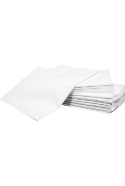 Evren Ev Tekstil Yastık 10 Adet Iç Kılıf Beyaz Fermuarlı Şilte 50 x 70 cm Pamuk
