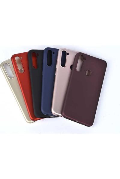 Case 4U Xiaomi Redmi Note 8T Kılıf Mat Silikon Lüks Arka Kapak Premier + Cam Ekran Koruyucu Siyah
