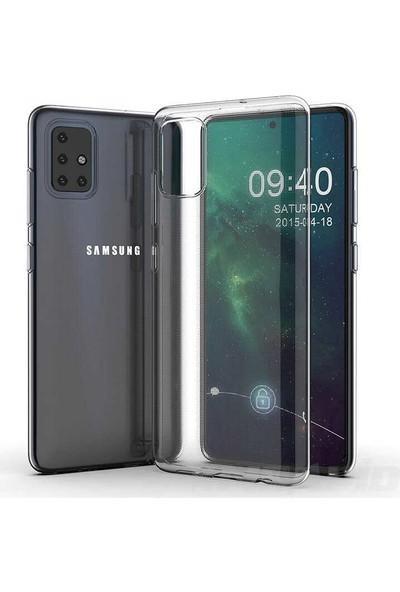 Case 4U Samsung Galaxy A71 Kılıf Süper Silikon Arka Kapak Şeffaf