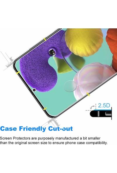 Case 4U Samsung Galaxy A71 Cam Ekran Koruyucu Temperli Şeffaf
