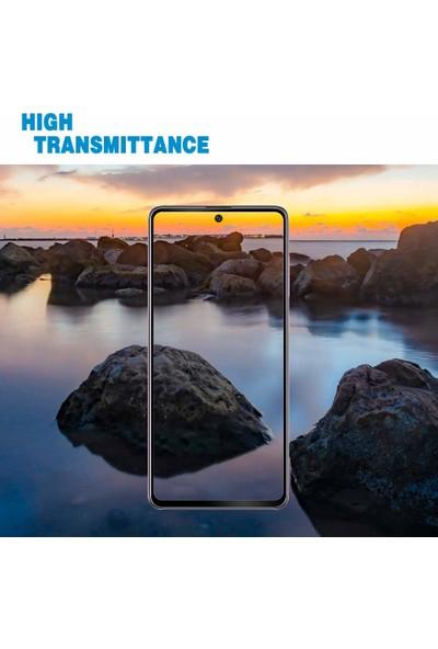 Case 4U Samsung Galaxy A71 5D Kavisli Temperli Cam Ekran Koruyucu Film Siyah