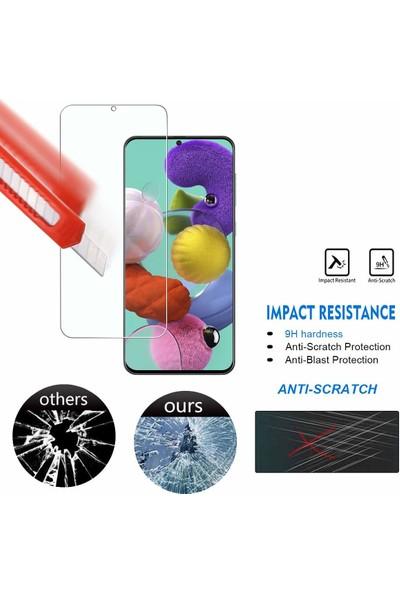 Case 4U Samsung Galaxy A71 Cam Ekran Koruyucu Nano Şeffaf