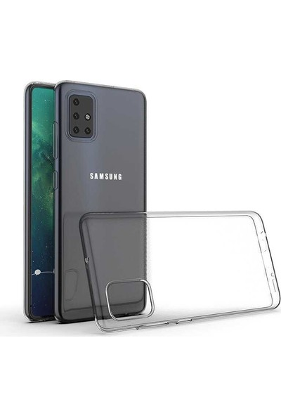 Case 4U Samsung Galaxy A51 Kılıf Süper Silikon Arka Kapak Şeffaf