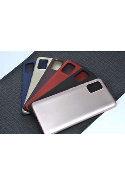 Case 4U Samsung Galaxy A51 Kılıf Mat Silikon Lüks Arka Kapak Premier + Cam Ekran Koruyucu Siyah
