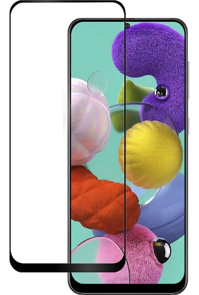 Case 4U Samsung Galaxy A51 Cam Ekran Koruyucu Tam Kaplayan Fiber Nano Siyah