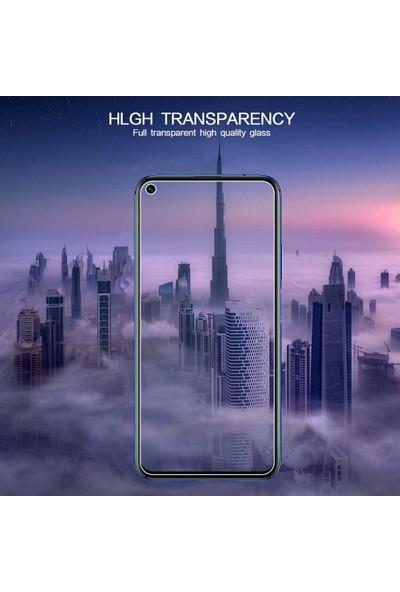 Case 4U Huawei Nova 5T - Honor 20 Cam Ekran Koruyucu Temperli Şeffaf