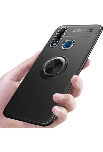 Case 4U Honor 9X - Huawei Y9 Prime 2019 Kılıf Ultra Korumalı Manyetik Ravel Silikon Arka Kapak Lacivert