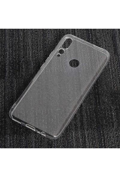 Case 4U Honor 9X - Huawei Y9 Prime 2019 Kılıf Süper Silikon Arka Kapak + Cam Ekran Koruyucu Temperli Şeffaf