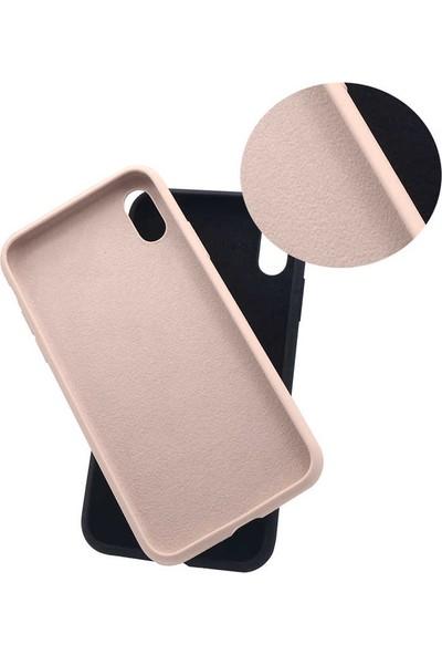 Case 4U Apple iPhone XS Max Kılıf Silk Silikon + Cam Ekran Koruyucu Siyah