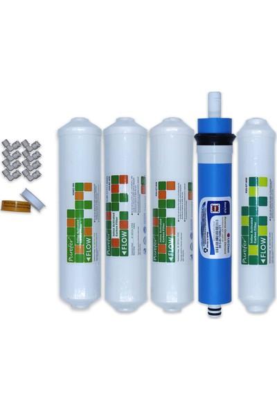 Aqua Clean Su Arıtma Cihazı 5'li Filtre Seti Lg Mebranlı Bms ve Tüm Inline Cihazlara Uyumludur