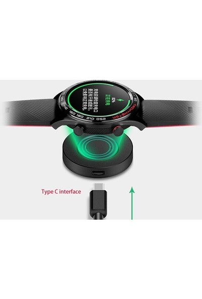 Ally Huawei Watch Gt-Honor Watch Magic Şarj Kablosu Adaptör - Siyah
