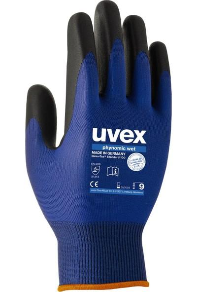Uvex Eldiven Phynomic Wet Polyamid Örgü Aqua Polimer Köpük Kaplama