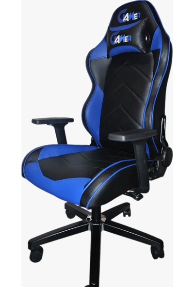 Gamer Mavi Siyah Oyuncu Koltuğu
