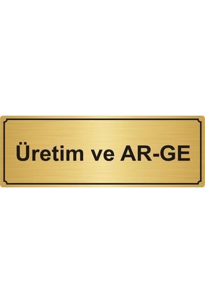 Gift Box Üretim ve Ar-Ge Yönlendirme Levhası 5 x 20 cm Altın Renk