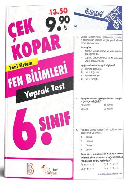 Eğitim Dünyası & Benim Hocam Yayınları - 6. Sınıf Fen Bilimleri Çek Kopar Yaprak Test